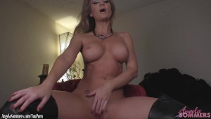 Angela Sommers strip tease and