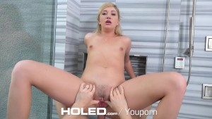 Holed - Blonde Zelda Morrison masturbates before getting anal fucked
