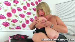 English BBW milf Melons Marie needs getting off