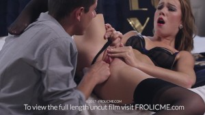FROLICME Com - Beautiful Brunette Gets Her Pussy Pleased