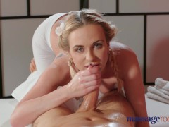 Massage Rooms Sexy blonde has her tight ass covered in cum