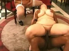2 Fat Matures Share 1 Black Cock
