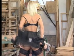 Carpenter Nails Horny Babe