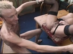 Sexy brunette housewife gets shagged at her work place