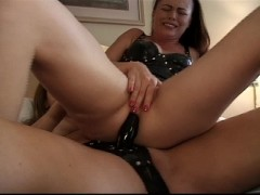 Hot lesbian ass play with strapon