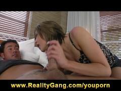Horny brunette Teen slut looking to fuck any stranger's big dick
