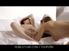 Nubile Films - Beautiful lesbian couple make passionate love
