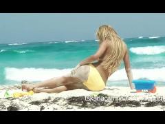 Karla Carrillo at the beach