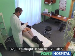 Fake Hospital Sexual treatment turns gorgeous busty patient moans of pain into pleasure