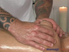 Massage Rooms Stunning latin babe has her wet pussy filled up with fat cock