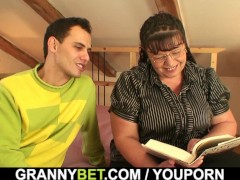 He picks up busty bookworm bitch for play