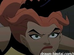 Justice League Hentai - Two chicks for Batman dick