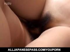 Japanese AV Model is aroused before sucking and riding boner