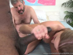 April Brookes Worked By Black Cock While Cuckolding Her Husband
