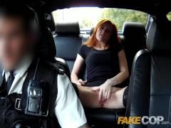 Fake Cop Redhead hooker earns herself an unlawful bonus