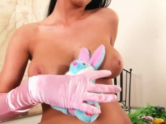Cute bunny babe stripping - DDF Productions
