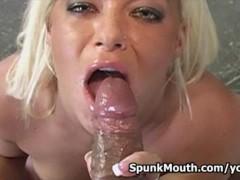 Bikini blonde slut Crista Moore hungry for big fat cock and nasty facial
