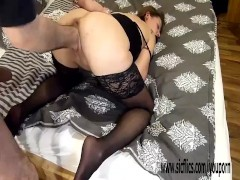 Brutally fisting his hot girlfriend in bondage