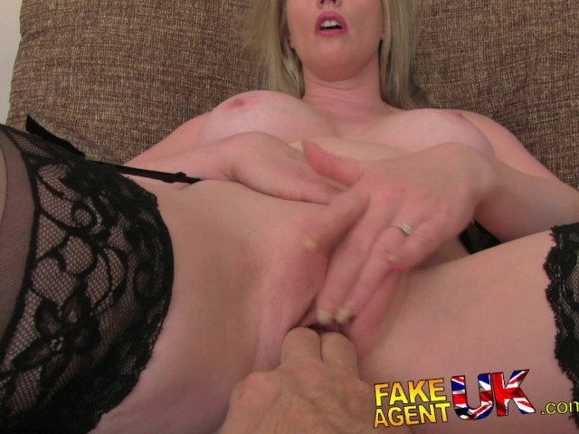 Fakeagentuk stocking clad posh milf willing to try it all on the casting 9