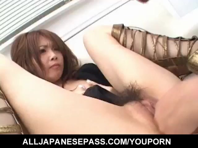 image Rika arouses her crack before getting sucked cock in it