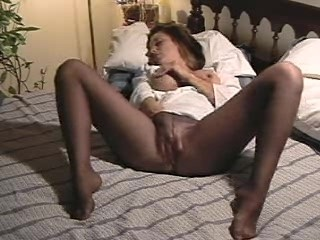 Pantyhose Masturbating Action