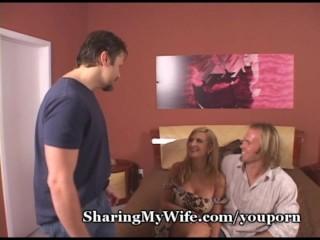 Pathetic Hubby Watches Hot Wife