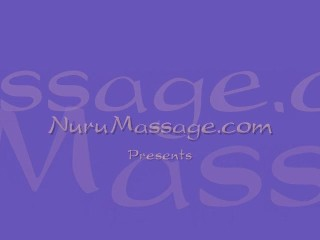 Amazing lesbo Nuru body massage!