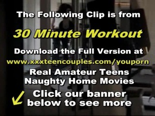 Young amateur couple gym