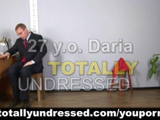 Stripping at job interview...