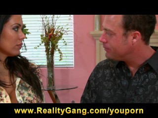 Big tit latina brunette milf fucks hard dick...