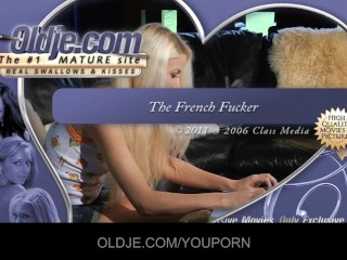 Young Curious Blonde Relishes The Old French Penis...