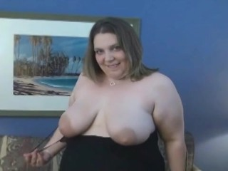 BBW brute Jen fucked then plays her toy exclusively at PlumpersAndBW