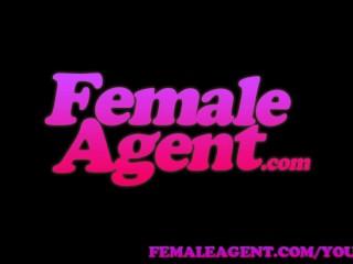 Femaleagent asian casting fucks female agent amazingly well...