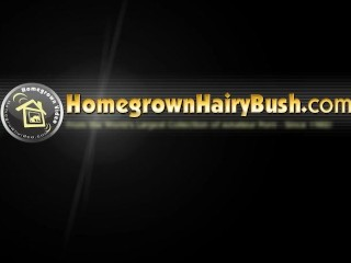 Natty bush creamed on muff...