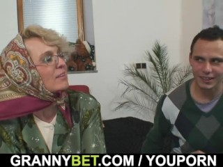 Grandma Pleases An Young Guy...