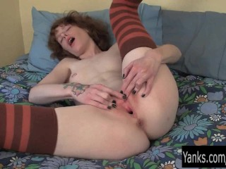 Pierced and tattooed staci pussy...