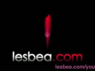Lesbea Deep penetration makes busty mature lesbian woman in stockings wet...