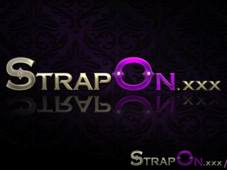 Action using strapon sex toys...