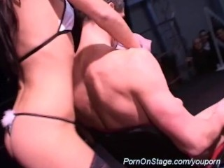 private dance on porn stage