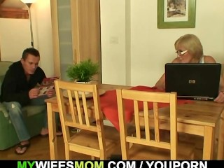 Porn loving granny pleases law...