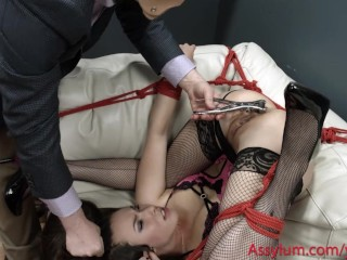 Gets tied up dominated and degraded at the mental hospital
