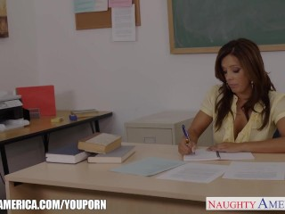 Chesty teacher fuck her young student...