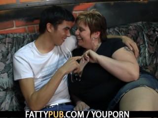 He screws huge boobs bbw