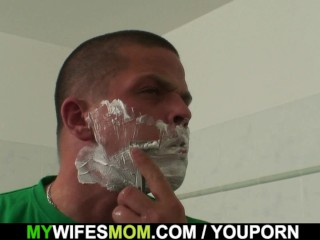 Inlaw helps him cum