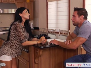 Busty Brunette Wife Romi Rain Gets Nailed...