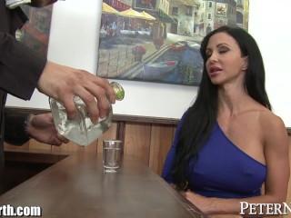 Milf jewels jade gets big bartender cock...