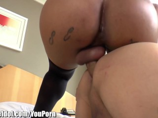 ShemaleIdol Alex Victor Buttfucked by Latin TS