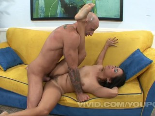 Lucky Starr gets her hairy Asian pussy fucked