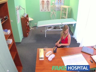 Fakehospital slim blonde uses her sexy...