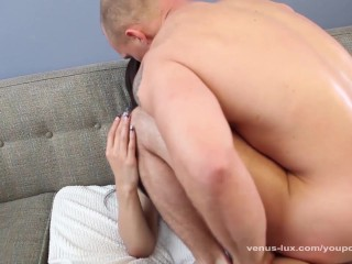 Asian Shemale Shoots Cum In His Mouth